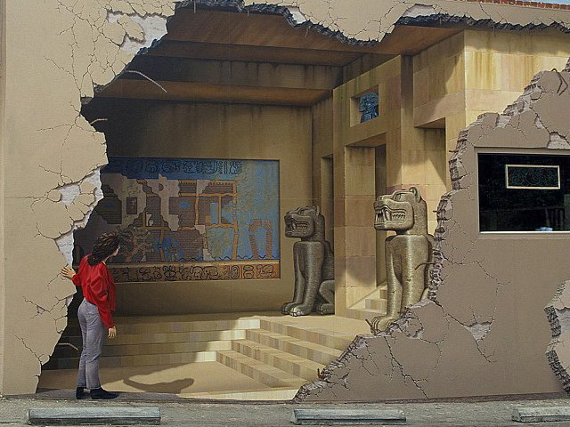 JOHN PUGH, AMERICAN PAINTER: A Three Dimensional Illusion Fiction, Created  With Large Trompe Lu0027oeil Wall Murals