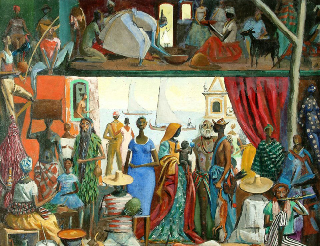Painting colonial times and african culture hector bernab the 6 sciox Images