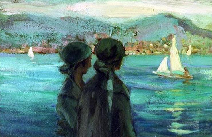 IBRAHIM CALLI (1882/1960), TURKISH PAINTER - Meeting Benches
